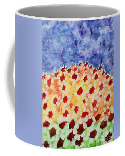 Daisies Coffee Mug featuring the painting Champs De Marguerites - 01 by Variance Collections