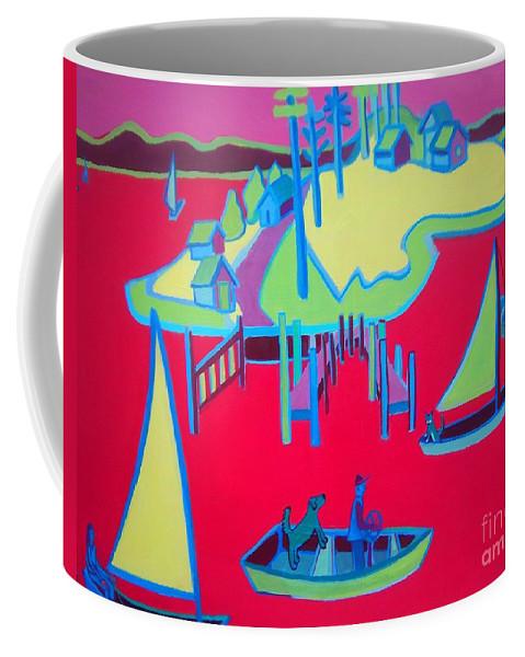 Ocean Coffee Mug featuring the painting Chance Meeting by Debra Bretton Robinson