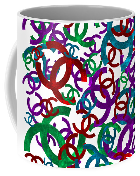 Chanel Coffee Mug featuring the painting Chanel Sign-1 by Nikita