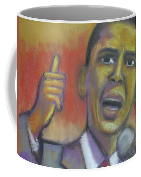 African American Coffee Mug featuring the drawing Change Is Coming by Jan Gilmore