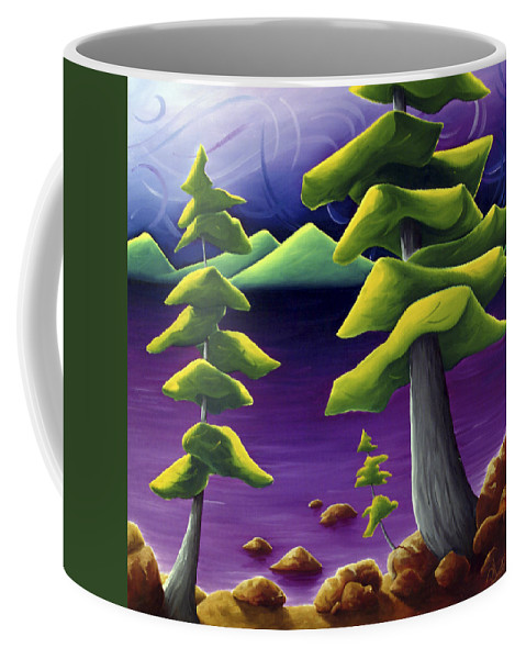 Landscape Coffee Mug featuring the painting Change Of Pace by Richard Hoedl