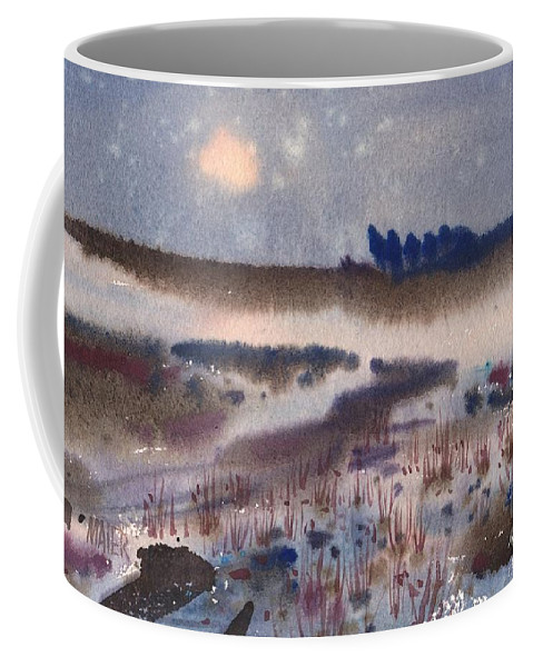 Snow Coffee Mug featuring the painting Changing Seasons by Donald Maier