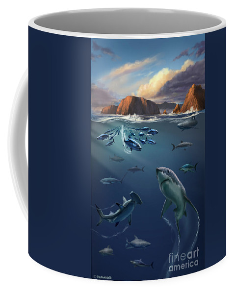 Sharks Coffee Mug featuring the photograph Channel Islands Sharks by Jim Dowdalls