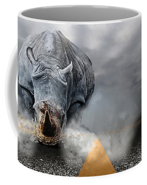 Chaos Artwork Photoshop Coffee Mug featuring the digital art Chaos by Alex Grichenko