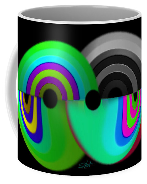 Chaos Art Coffee Mug featuring the painting Chaos Balls by Charles Stuart