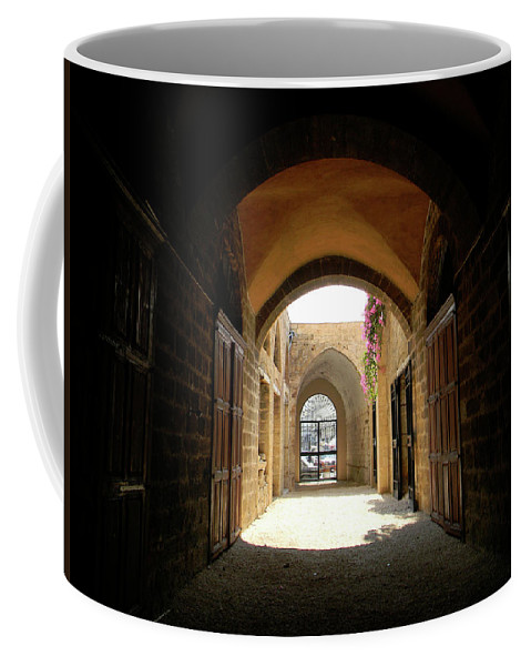 Marwan Coffee Mug featuring the photograph Chaos Beyond The Gate by Marwan George Khoury