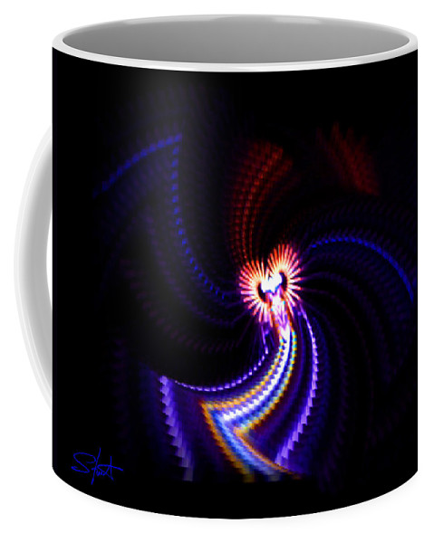 Chaos Coffee Mug featuring the painting Chaos Dance by Charles Stuart