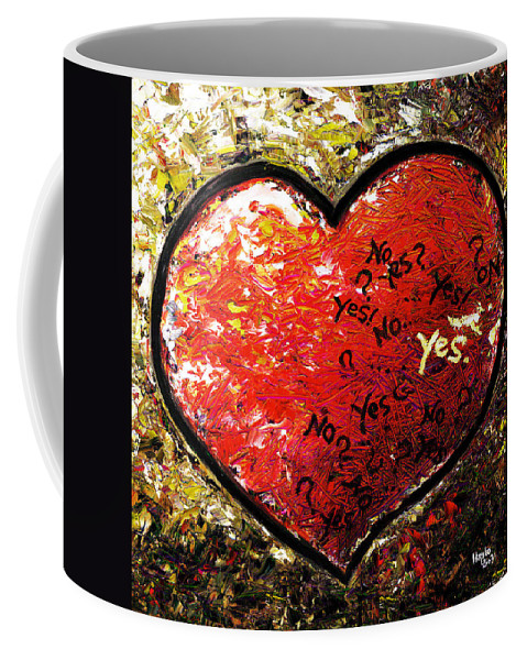Pop Coffee Mug featuring the painting Chaos In Heart by Hiroko Sakai