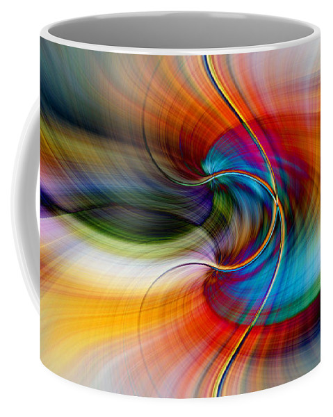 Abstract Coffee Mug featuring the digital art Chaos by Michelle Whitmore