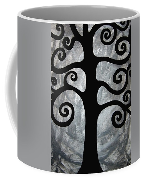 Abstract Tree Coffee Mug featuring the painting Chaos Tree by Angelina Vick