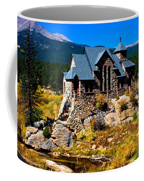 Chapel On The Rock Coffee Mug featuring the photograph Chapel On The Rock by James BO Insogna