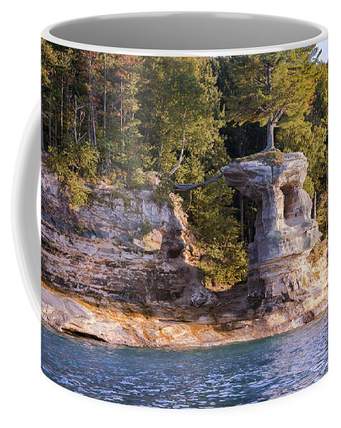 Lake Coffee Mug featuring the photograph Chapel Rock by Jack R Perry