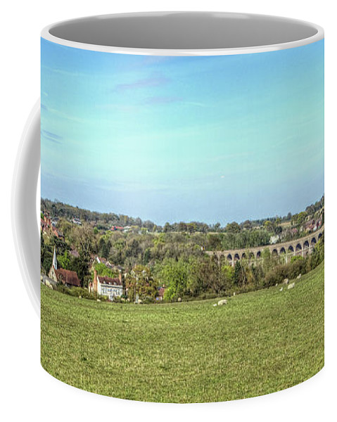 Chappel Coffee Mug featuring the digital art Chappel Viaduct by Nigel Bangert