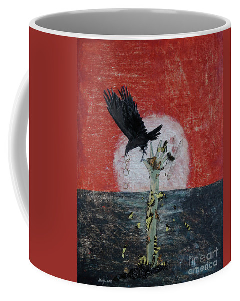 Mixed Media Coffee Mug featuring the painting Chapter Epilogue After The Fact by Stanza Widen