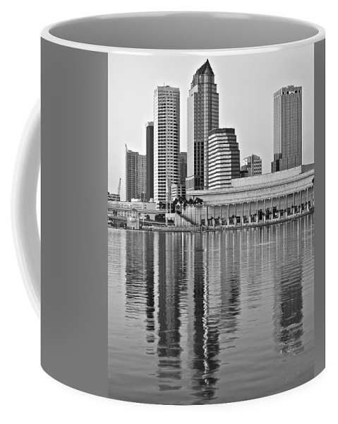 Tampa Coffee Mug featuring the photograph Charcoal Tampa by Frozen in Time Fine Art Photography