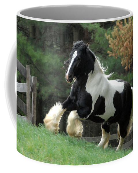 Gypsy Horses Coffee Mug featuring the photograph Charge by Fran J Scott
