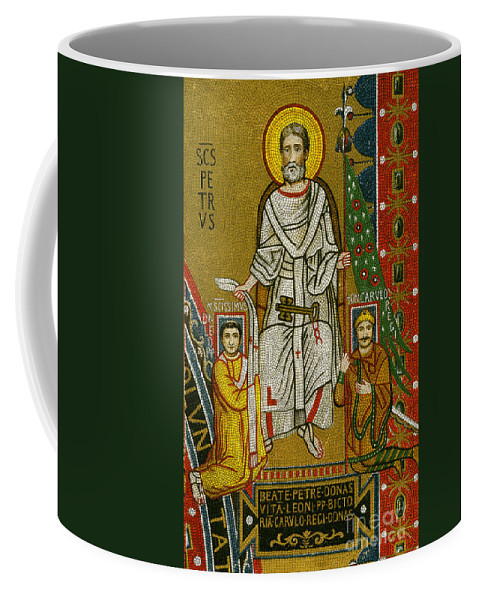 8th Century Coffee Mug featuring the painting Charlemagne (742-814) by Granger