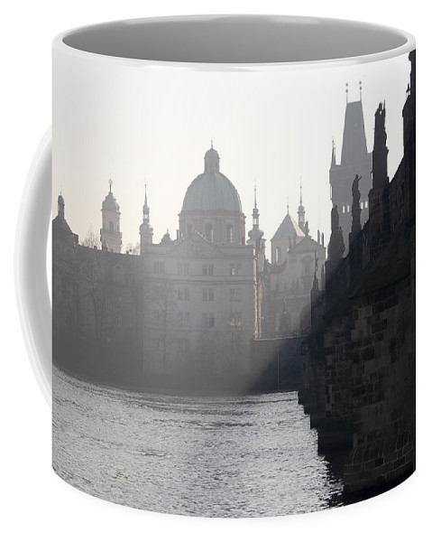 Bridge Coffee Mug featuring the photograph Charles Bridge At Early Morning by Michal Boubin