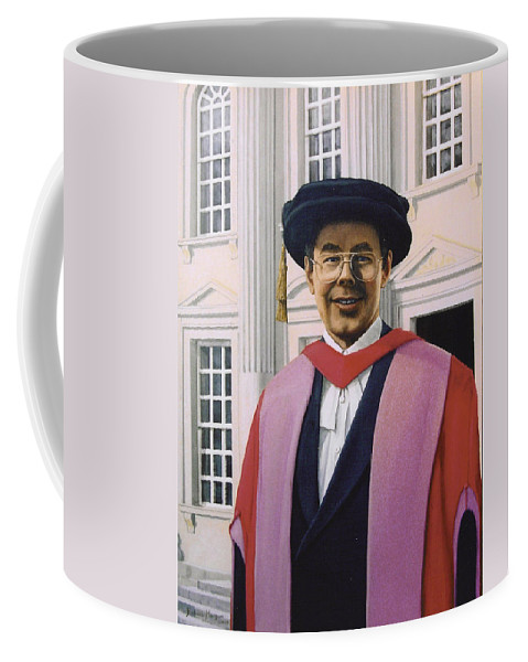 Portrait Coffee Mug featuring the painting Charles Harpum Receiving Doctorate Of Law by Richard Harpum