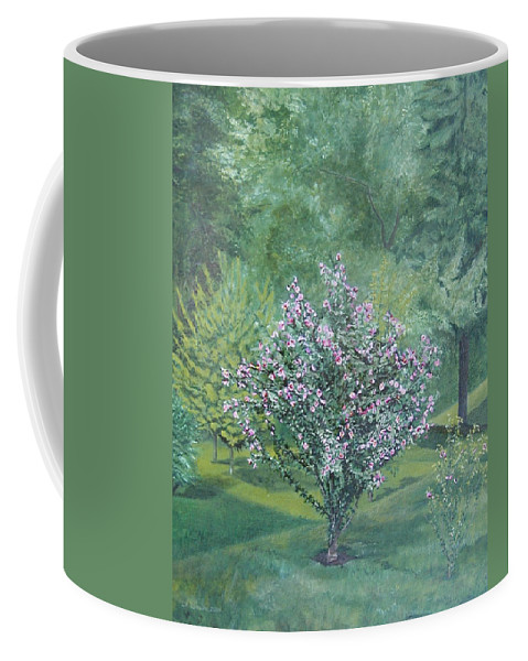Blooming Coffee Mug featuring the painting Charles Street by Leah Tomaino
