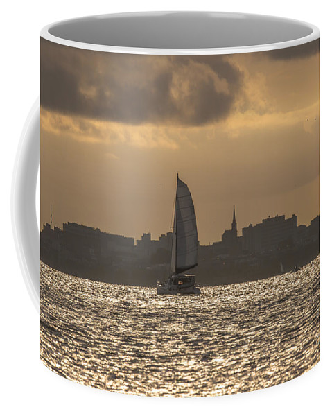 Charleston Coffee Mug featuring the photograph Charleston Sailing by Dale Powell