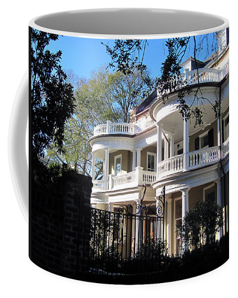 Photography Coffee Mug featuring the photograph Charlestons Beautiful Architecure by Susanne Van Hulst
