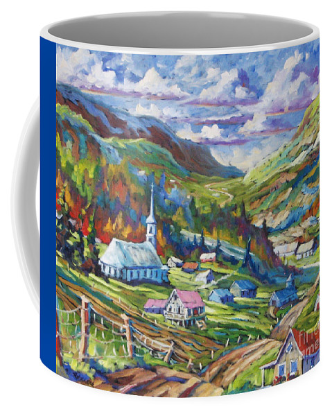 Charlevoix Coffee Mug featuring the painting Charlevoix Inspiration by Richard T Pranke