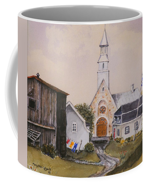 Landscape Coffee Mug featuring the painting Charlevoix Quebec by Mary Ellen Mueller Legault