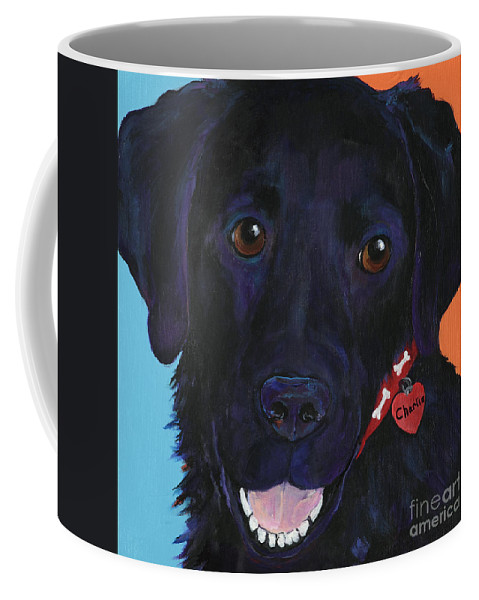 Dog Art Coffee Mug featuring the painting Charlie by Pat Saunders-White