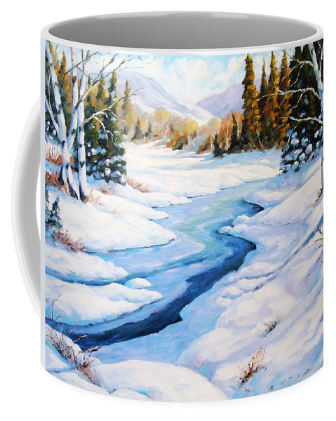 Winter Coffee Mug featuring the painting Charming Winter by Richard T Pranke
