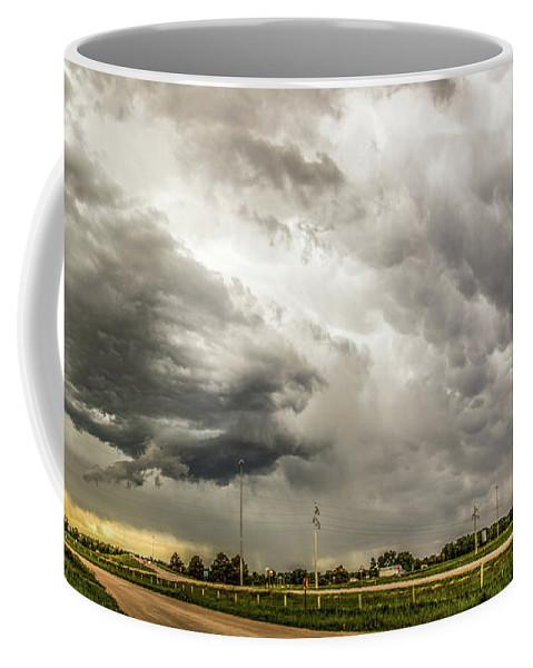 Nebraskasc Coffee Mug featuring the photograph Chasing Nebraska Stormscapes 045 by NebraskaSC