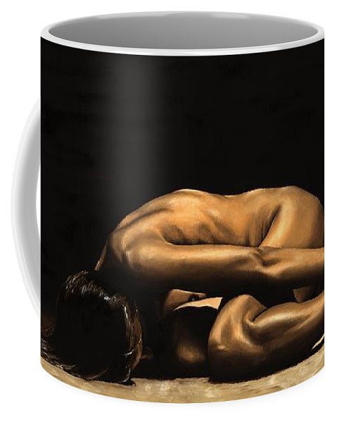 Nude Coffee Mug featuring the painting Chastity by Richard Young