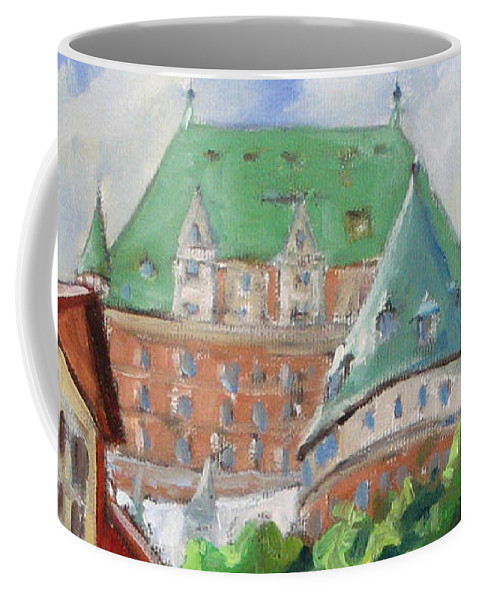 Chateau Frontenac Coffee Mug featuring the painting Chateau Frontenac by Richard T Pranke
