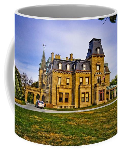 Newport Coffee Mug featuring the digital art Chateau-sur-mer by Ches Black