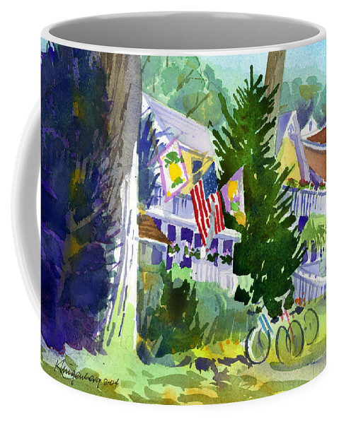 Chautauqua Institution Coffee Mug featuring the painting Chautauqua House by Lee Klingenberg