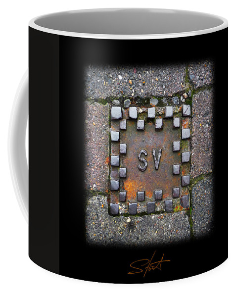 Square Coffee Mug featuring the photograph Checker Sv by Charles Stuart
