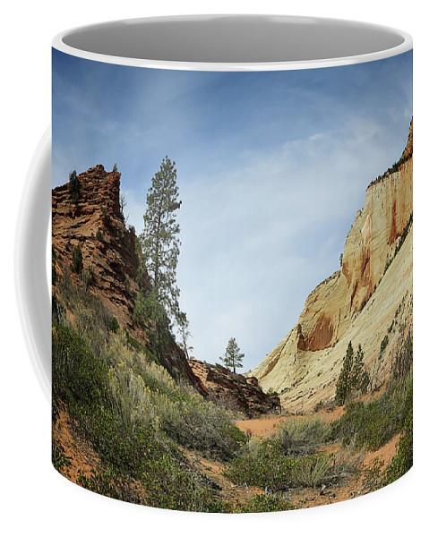 Landscape Coffee Mug featuring the photograph Checkerboard Mesa by Sue Collura