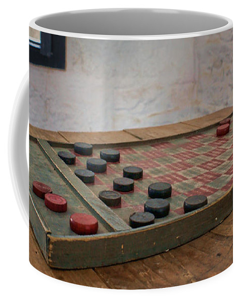 Checkered Past Coffee Mug featuring the photograph Checkered Past - Checkers by Nikolyn McDonald