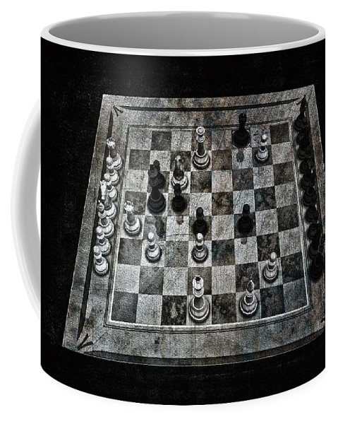 Checkmate In One Move Coffee Mug featuring the digital art Checkmate In One Move by Ramon Martinez
