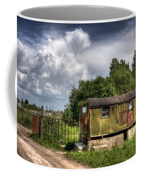 Ukraine Coffee Mug featuring the photograph Checkpoint by Evelina Kremsdorf