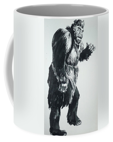 Monster Movies Coffee Mug featuring the painting Cheela Captive Wild Woman by Bryan Bustard