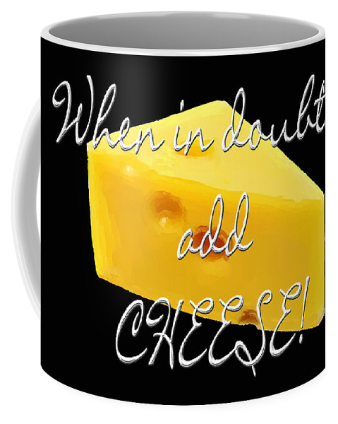 Cheese Coffee Mug featuring the painting Cheese by Methune Hively