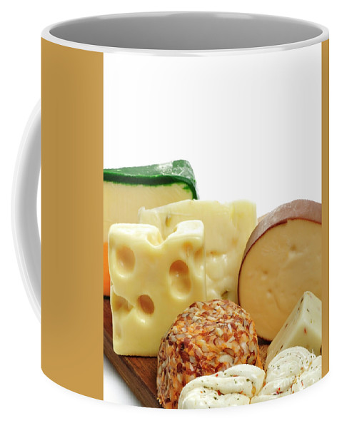 Cheese Coffee Mug featuring the photograph Cheese Slices by Svetlana Foote