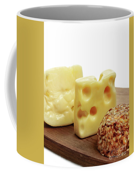 Cheese Coffee Mug featuring the photograph Cheese by Svetlana Foote