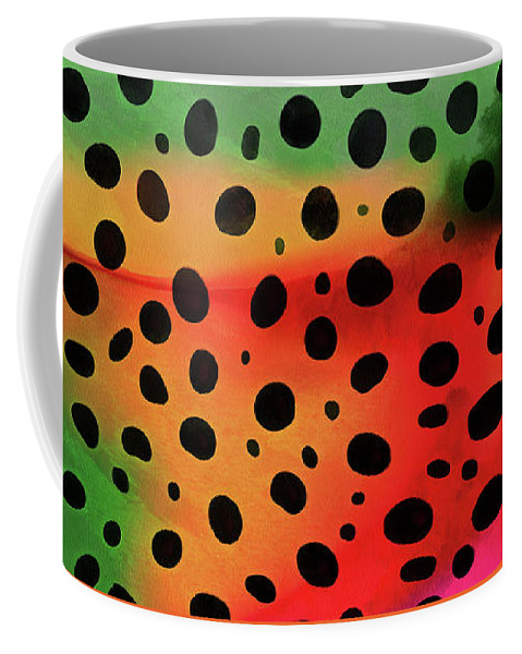 Mug Coffee Mug featuring the painting Cheetah Animal Print 5 Mug by Edward Fielding