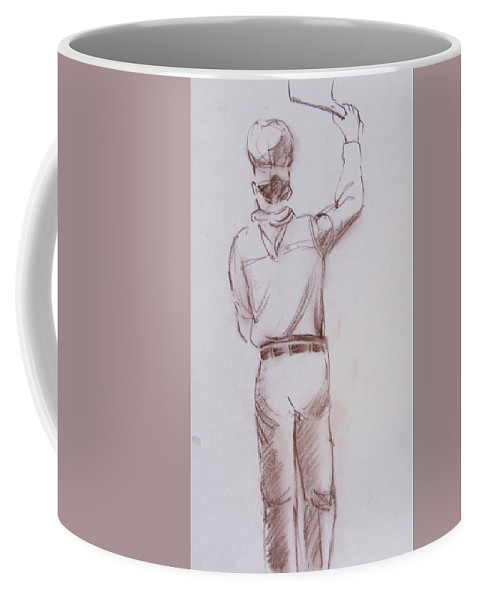 Male Coffee Mug featuring the drawing Chef 7 by Markus Neal Humby