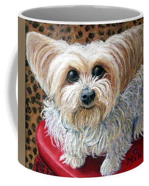 Dog Coffee Mug featuring the painting My Friend by Minaz Jantz