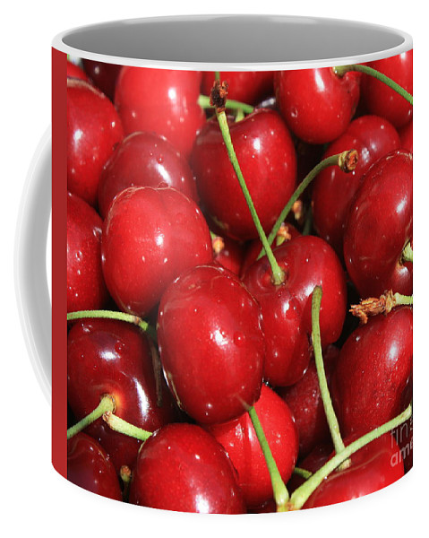 Food And Beverages Coffee Mug featuring the photograph Cherries by Carol Groenen