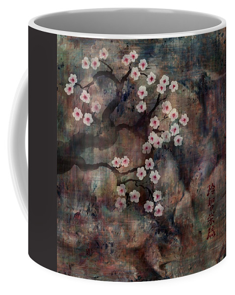 Landscape Coffee Mug featuring the digital art Cherry Blossoms by William Russell Nowicki