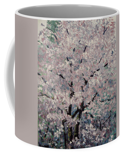 Trees Coffee Mug featuring the painting Cherry Pink by Paul Illian